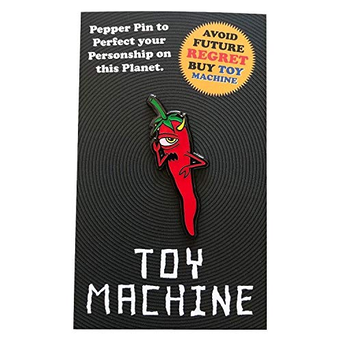 Toy Machine Skateboard Lapel Pin Pepper