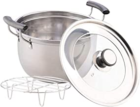 Cooking Pots Pans Soup Pot Casserole Pan Non-Magnetic Thick Stainless Steel Milk Pot Double-Eared Induction Cooker Pot, St...