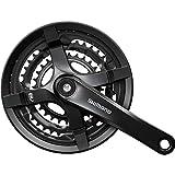 SHIMANO Kurbelgarnitur-2092832620 Bielas, Unisex Adulto, Negro, 175 mm