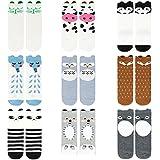 Ateid Baby Kinder Kniestrümpfe Socken Knielang 9er-Pack 4-6 Jahre
