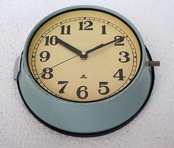 Vintage Rare Original Maritime Clocks Nautical Ship Slave Clock Seiko Quartz Made in Japan Blue Wall Clock