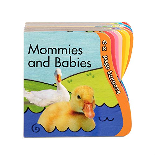 Melissa & Doug E-Z Page Turners Books 4-Pack (12-Page Board Books with Sculpted Easy-Turn Pages)