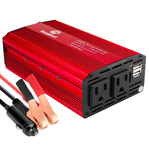 Buywhat 500W Power Inverter DC 12V to 110V AC Converter Car Plug Adapter Outlet Charger for Laptop Computer