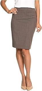 Wool Blend Peplum Pencil Skirt