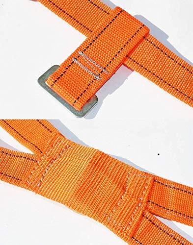 MU Ensemble d'escalade de sécurité résistant à l'usure Corde Harnais Demi-Corps Corde 1.8M / 3M / 5M Ceinture de sécurité Ceinture de sécurité résistant à l'usure,B,5M