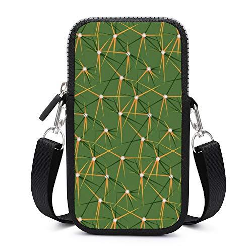 Monedero para teléfono móvil, con correa de hombro extraíble, color verde cactus y espina dorsal resistente al desgaste, para el teléfono, brazalete, gimnasio, bolsas de fitness para hombre