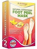 Mascarilla exfoliante para pelar los callos y durezas de pies - 2 pares - Elimina piel muerta y seca - Baby feet peel en 7 días, calcetines exfoliantes de pies - Foot Peeling Mask - Callos pies