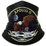 Bklzzjc Apollo 11 Mission Logo Fleece-Halswärmer - Wendbarer Halsschutzschlauch, vielseitiger Ohrwärmer, Stirnband und Maske