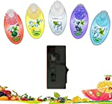 IURIMA Dispensador de bolas picadoras rellenable con 100 cápsulas de color negro (dispensador negro, 500 bolas).