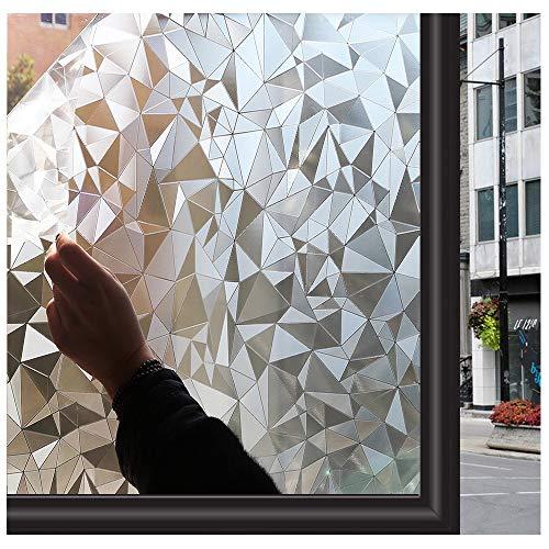 Zindoo raamfolie zonder lijm, gebrandschilderd glas, raamfolie, statisch, mat, privacy-folie, venstergordijn, 90 x 200 cm