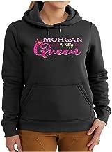 Women's Morgan Name Gift - Morgan is My Queen Shirt - Hoodie