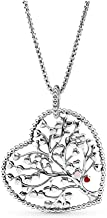 PANDORA Sterling Silver Heart of Winter Pendant & Necklace