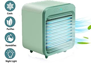 Acondicionador de aire recargable refrigerado por agua, mini refrigerador evaporativo de 3 velocidades Ventilador de mesa, circulador de aire silencioso Humidificador Ventilador de nebulización