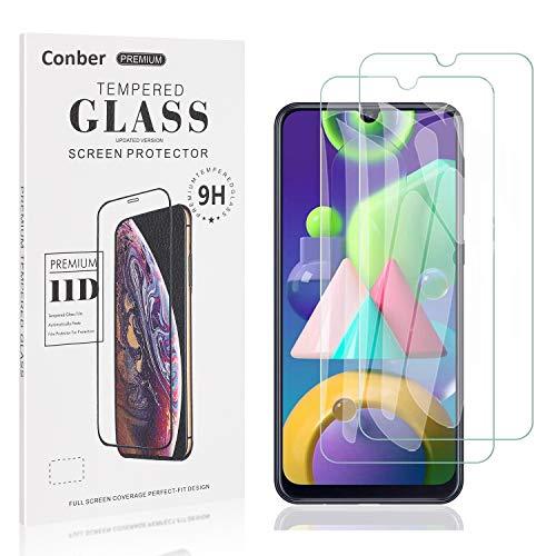 Conber [2 Stück] Displayschutzfolie kompatibel mit Samsung Galaxy A41, Panzerglas Schutzfolie für Samsung Galaxy A41 [9H Härte][Hüllenfreundlich]