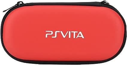 fosa Funda Protectora rígida para portátil de Viaje Funda Protectora portátil para Sony PS Vita, Playstation Vita Travel Shock a Prueba de Golpes(Rojo)