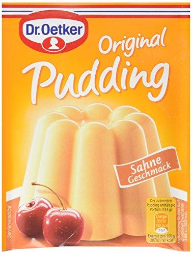Dr. Oetker Pudding-Pulver Sahne 3er, (9x 111 g Packung)