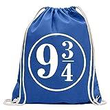 Plataforma 9 3/4 London Kings Cross divertida mochila deportiva para el fitness Gymbag de la compra de algodón con cordón, Unisex adulto, Real., 37 x 46cm
