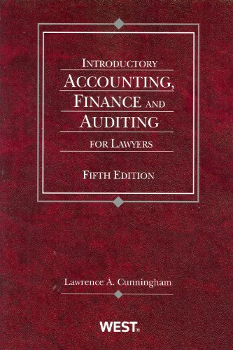 Introductory Accounting, Finance and Auditing for...