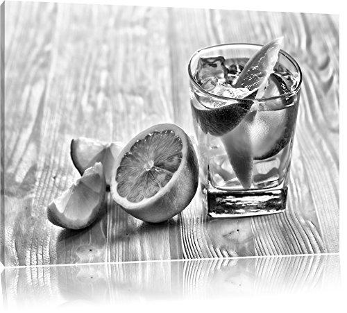 Gin-tonic met citroen schotFoto Canvas | Maat: 100x70 cm | Wanddecoraties | Kunstdruk | Volledig gemonteerd