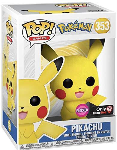 POP! Games Pokemon 353 Pikachu Flocked Sticker Funko Club