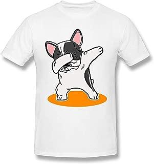 Camiseta Divertida para Hombre Dabbing Comfort de Bulldog francés para Hombre 100% algodón tee Tops