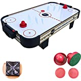 JODELA Table Top Air Hockey 40-INCH Air Hockey Table for Game Room w/ 2 Pucks, 2 Pushers Air Hockey Sets for Kids, Camping,Road Trips Game Table for Whole Family (air Hockey Table)