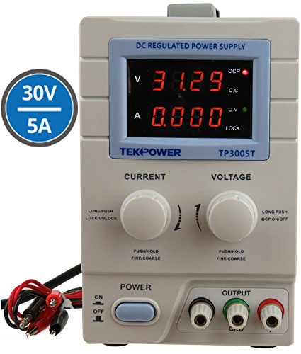 Tekpower TP3005T Variable Linear DC Power Supply, 0 - 30V @ 0 - 5A
