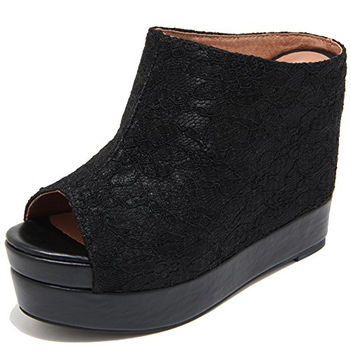 7791I Sandali Zeppe neri JEFFREY CAMPBELL Virgo Scarpe Shoes Women [36]