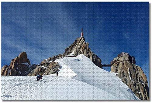 qingyuge Aiguille Du Midi Chamonix, Francia-1000 Piezas niños Adultos Intelectual de descompresión Difícil y Desafiante Decoración Hogar Juguete-50cmx75cm