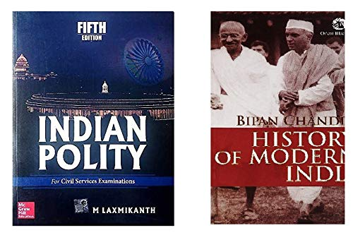 Combo Of Indian Polity by M. Laxmikant and History of Modern India by Bipan Chandra