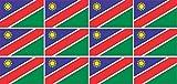 Mini Aufkleber Set - Pack glatt - 50x31mm - Sticker - Namibia - Self-Adhesive - Flagge-Banner-Standarte fürs Auto, Büro, zu Hause & die Schule - 12 Stück