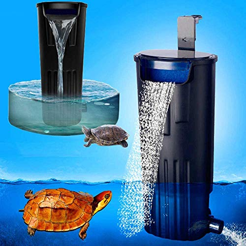LONDAFISH Turtle Filter Water Submersible Filter for Turtle Tank/Aquarium 600L/H Filtration Low Water Level Filter