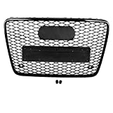 KIMISS Front Sport Hex Mesh Honeycomb Hood Grill Black RSQ7 Style for Q7 4L 2007-2015, Direct Fit