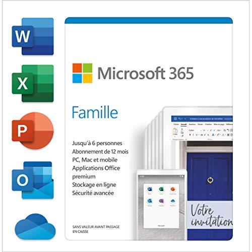 Preisvergleich Produktbild Microsoft 365 Family - Box-Pack (1 Jahr) - bis zu 6 Personen