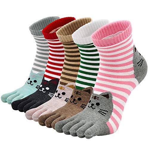 PUTUO Calcetines de Dedos Mujer Calcetines Cinco Dedos de Deporte, Mujer Calcetines...