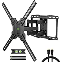 USX MOUNT Full Motion TV Wall Mount for Most 42-75 inch Flat Screen TVs, Weight Capacity 100lbs + 6-Feet HDMI Cable + 3-Axis Magnetic Bubble Level + 3-Pack Cable Ties
