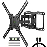 TV Mount Bracket Max VESA 600x400mm for Most 42-75 inch Flat Screen/LED/4K TVs, USX MOUNT Full Motion TV Wall Mount Dual Swivel Articulating Tilt 6 Arms Up to 16' Wood Stud, Weight Capacity 100lbs