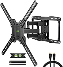 USX MOUNT Full Motion TV Wall Mount Max VESA 600x400mm for Most 42-75 inch Flat Screen TVs, TV Mount Bracket Dual Swivel Articulating Tilt 6 Arms Up to 16