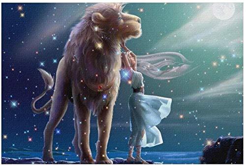 BOIPEEI León Zodiaco Galaxy Cielo Estrellado Foto Jigsaw Puzzle 1000 Piezas Rompecabezas Divertido Rompecabezas Educativo