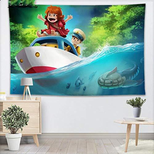 Tapiz de pared de estudio Ghibli para decoración del hogar, para colgar en la pared, para dormitorio, 130 x 150 cm, 140 x 250 cm