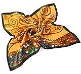 prettystern de mujer foulard de seda pañuelo de cuello Bandana de Gustav Klimt P813 Árbol de la vida