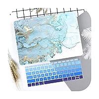 マーブルフラワーパターンラップトップケースキーボードカバー新しいfor MacBook Air 13 2018 2019 Pro 13.3 15インチRetinaタッチバーA2159 A1932-J194-Retina 13 A1502