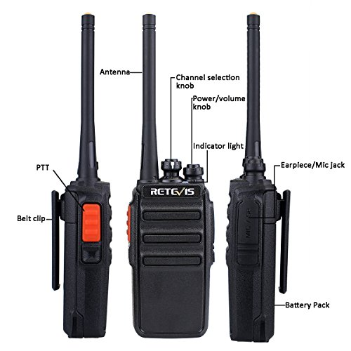 Retevis RT24 Walkie Talkie PMR446 License-free Professional Two Way Radio 16 Channels Walkie Talkies Scan TOT with USB…