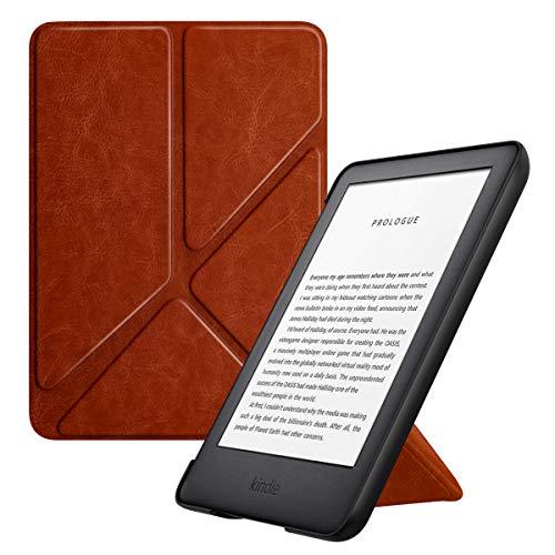 MoKo Kindle 10th Generation 2019 Release Custodia, Case Origami Verticale per Kindle 10th Generation 2019 Release(Con Auto Sonno/Sveglia) - Marrone