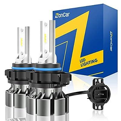ZonCar 5202 LED Fog Light Bulbs, 4000 Lumens PS19W 5201 6000K Xenon White Fog Light Bulbs, 300% Brighter Led Fog Light Replacement Bulbs for Cars High Power LED Fog Light IP67 Waterproof Fog Lamp Bulb