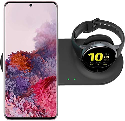 SPGUARD Ladestation Kompatibel mit Samsung Ladegerät Samsung Ladestation für Galaxy Watch 3 Galaxy Watch Active 2,Induktive Ladestation Samsung S10 S9 S20 Note 20 Note10 und Galaxy Buds+/Buds Live