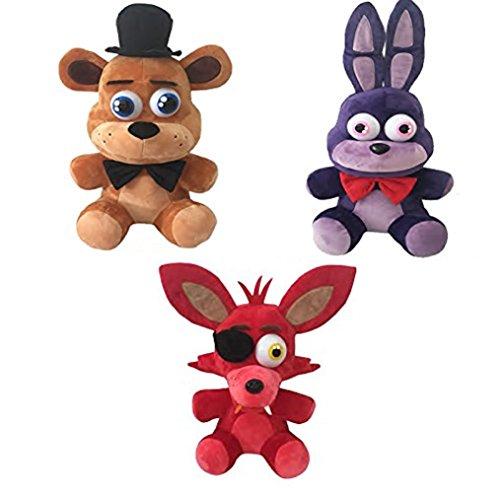 Five Nights at Freddy's Plush Toy 3pc Set 10 Stuff Animal Plush Toy (Original)