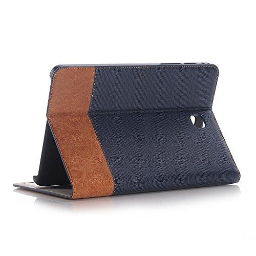 Hülle Galaxy Tab S2 8.0 2015 Model SM-T710 /T715/T713/T719, Tablethülle Schutzhülle PU Leder Klapphülle Hülle Cover Superdünne [Auto Schlaf/Aufwach] [Standfunktion] für Galaxy Tab S2 8.0 2015-Blau1