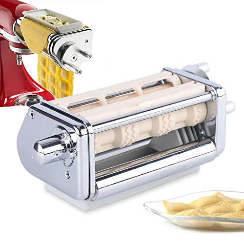 Ravioli Maker Attachment Stainless Steel Kitchen Aid Tool For Stand Mixer Dumpling Maker Pasta Lasagna Spaghetti Wrapper Pastry Dough Cutter