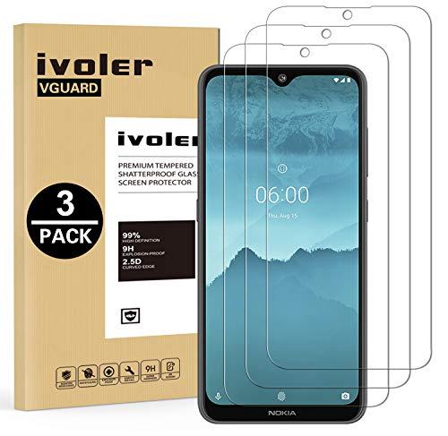 VGUARD 3 Stücke Panzerglas Schutzfolie für Nokia 6.2 / Nokia 7.2, Panzerglasfolie Folie Bildschirmschutzfolie Hartglas Gehärtetem Glas BildschirmPanzerglas Bildschirmschutz für Nokia 6.2 / Nokia 7.2